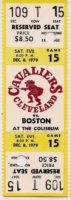 1979 NBA Celtics at Cavaliers ticket stub Larry Bird 32 points