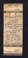 1983 Cheap Trick and Aldo Nova Live in Muskegon ticket stub
