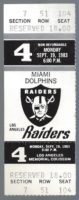 1983 NFL Dolphins at Raiders ticket stub Marino first game and TD