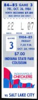 1984 IHL Salt Lake Golden Eagles at Indianapolis Checkers ticket stub