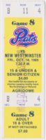 1985 WHL New Westminster Bruins at Regina Pats ticket stub