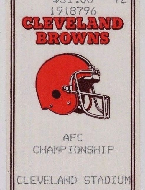 1986 AFC Championship Broncos at Browns ticket stub