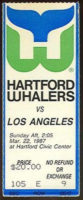 1987 NHL Kings at Whalers ticket stub