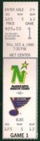 1990 NHL Blues at North Stars ticket stub