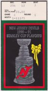 1991 NHL Playoffs Round 1 Game 6 Penguins at Devils ticket stub