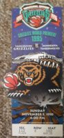 1995 NBA Timberwolves at Grizzlies ticket stub