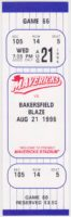 1996 MiLB California League Bakersfield Blaze at High Desert Mavericks ticket stub