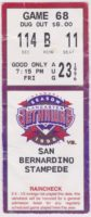 1996 MiLB California League San Bernardino Stampede at Lancaster Jet Hawks ticket stub