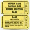 1996 MiLB California League Visalia Oaks ticket stub