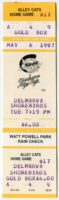 1997 MiLB South Atlantic League Delmarva Shorebirds at Charleston Alley Cats ticket stub