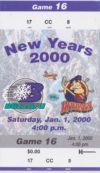 2000 ECHL Rivermen at Blizzard ticket stub