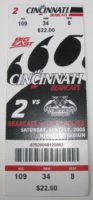 2005 NCAAF Western Carolina at Cincinnati ticket stub