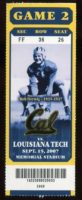 2007 NCAAF Louisiana Tech at California ticket stub