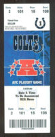 2007 NFL Playoffs Kansas City Chiefs at Indianapolis Colts ticket stub