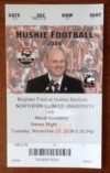 2008 NCAAF Navy at Northern Illinois ticket stub