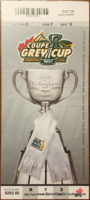 2010 Grey Cup Montreal vs Saskatchewan ticket stub