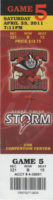 2011 IFL Sioux Falls Storm at Bricktown Brawlers ticket stub