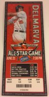 2011 MiLB South Atlantic League All Star Game ticket stub