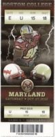 2012 NCAAF Maryland at Boston College ticket stub
