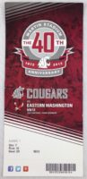 2012 NCAAF Eastern Washington at Washington State ticket stub