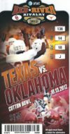 2012 NCAAF Oklahoma vs Texas ticket stub