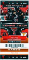2012 NCAAF Texas at Texas Tech ticket stub