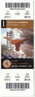 2012 NCAAF Wyoming at Texas ticket stub