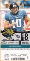 2012 NFL Titans at Jaguars ticket stub