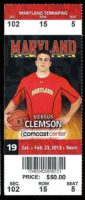2013 NCAAMB Clemson at Maryland ticket stub