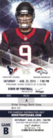2015 NFL Broncos at Texans ticket stub