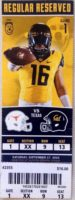 2016 NCAAF Texas at California ticket stub
