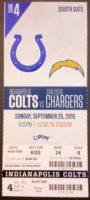 2016 NFL Chargers at Colts ticket stub