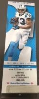 2016 NFL Steelers at Panthers ticket stub