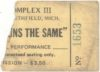 Led Zeppelin Song Remains the Same movie ticket stub