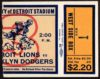 1937 NFL Dodgers at Lions ticket stub