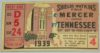 1939 NCAAF Mercer at Tennessee ticket stub