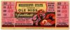 1945 NCAAF Mississippi at Mississippi State ticket stub