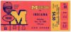 1960 NCAAF Indiana at Michigan ticket stub