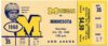 1960 NCAAF Minnesota at Michigan ticket stub