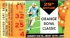 1963 Orange Bowl Oklahoma vs Alabama ticket stub