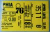1968 NBA Lakers at 76ers ticket stub