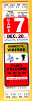 1970 NFL Vikings at Falcons ticket stub