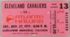 1971 NBA Cavaliers at Hawks ticket stub