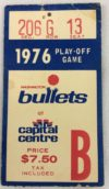 1976 NBA Playoffs Cavaliers at Bullets ticket stub