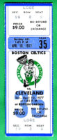1977 NBA Cavaliers at Celtics ticket stub