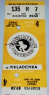 1981 NBA 76ers at Cavaliers ticket stub