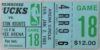 1983 NBA Rockets at Bucks ticket stub
