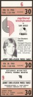 1984 NBA Clippers at Trail Blazers ticket stub