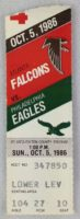 1986 NFL Eagles at Falcons Ticket Stub