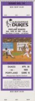 1989 MiLB PCL Portland Beavers at Albuquerque Dukes ticket stub